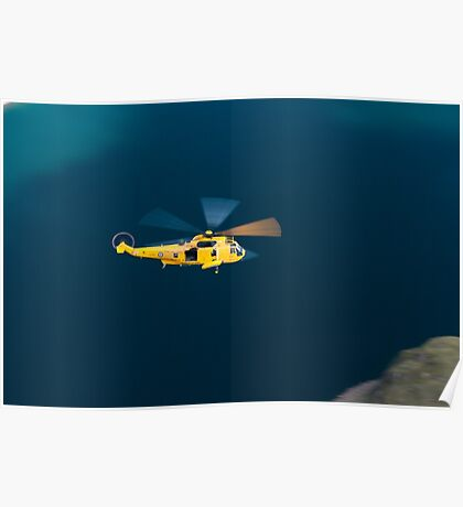 RAF Sea King Rescue Helicopter Poster