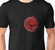 broken cracked red glass ball Unisex T-Shirt