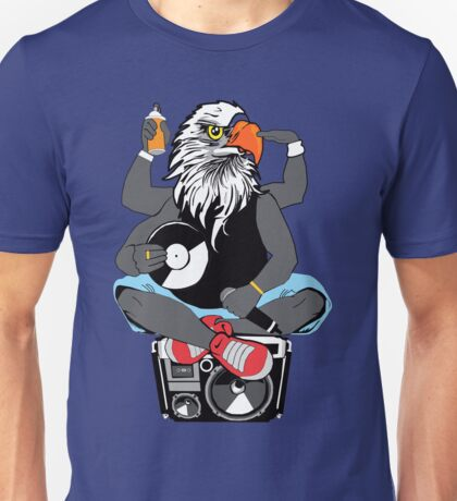 Deejay Eagle Playing Vinyl Unisex T-Shirt