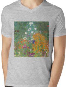 Gustav Klimt - Flower Garden, 1905-07 Mens V-Neck T-Shirt
