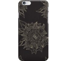 Black flowers iPhone Case/Skin