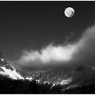 Moonrise Over Franconia Notch by Wayne King