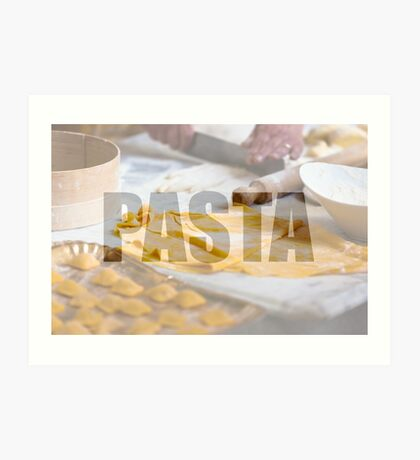 Cooking fresh pasta Art Print