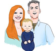 Ballard Family Portrait by Dan Paul  Roberts