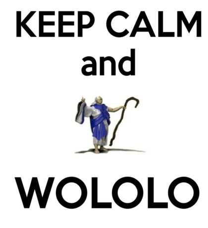 Keep calm and WOLOLO!-white Sticker