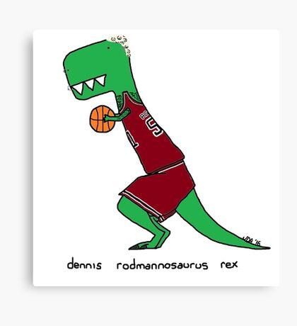 dennis rodmannosaurus rex  Canvas Print