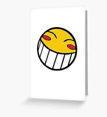 Cowboy Bebop Radical Ed Smiley Face Greeting Card
