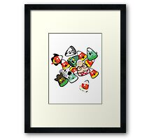 Horror Corn :) Framed Print