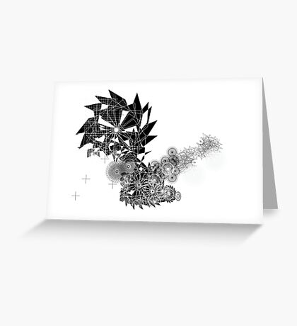 Black and white Spirograph Greeting Card