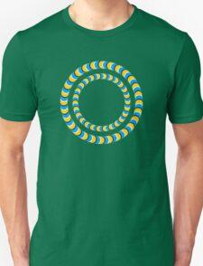 Optical illusion, Rotating tires Unisex T-Shirt