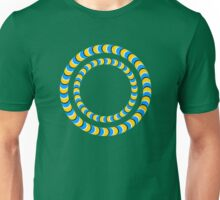 Optical illusion, Rotating tires Unisex T-Shirt