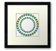 Optical illusion, Rotating tires Framed Print