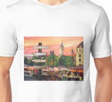 Munich Bavaria Viktualienmarkt with Signposts Unisex T-Shirt