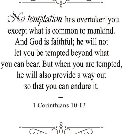 1 Corinthians 10:13 Bible Verse Sticker