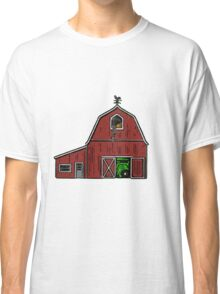 Farm House with Tractor  Classic T-Shirt