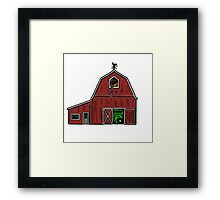 Farm House with Tractor  Framed Print