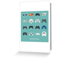 gamepads icons Greeting Card