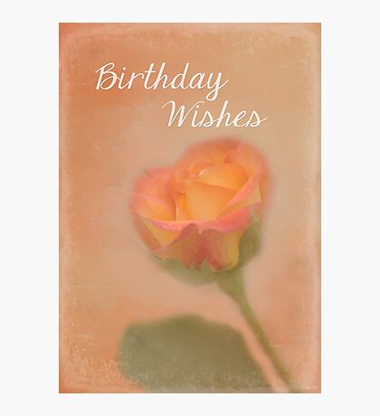 Rose Whispers - Birthday Wishes Photographic Print