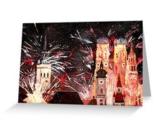 Munich, New Years Eve Fireworks Greeting Card