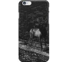Listen - elk in forest iPhone Case/Skin