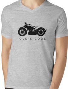 Old's Cool - Vintage Motorcycle Silhouette (Black) Mens V-Neck T-Shirt