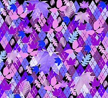 Mauve Argyle & Leaves by PrivateVices
