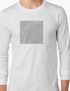 Grey spiral abstract pattern Long Sleeve T-Shirt