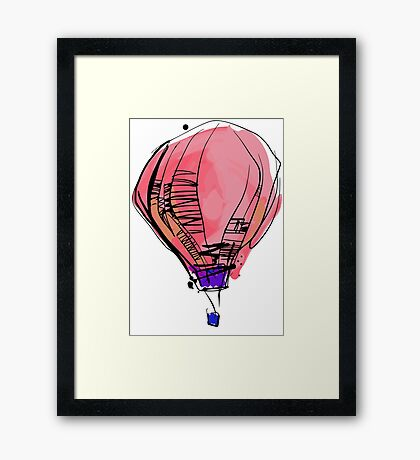 The Balloon Framed Print