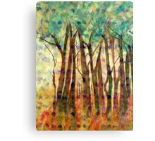 Patterned Trees Canvas Print