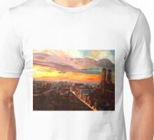Munich Sunset Skyline with Church of Our Lady Unisex T-Shirt