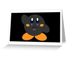 Carbon Kirby - Blue eyes Greeting Card