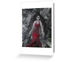 RedLady In Dream of Soot & Ash Greeting Card