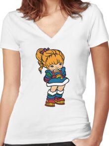 Rainbow Brite [ iPad / iPhone / iPod case, Tshirt & Print ] Women's Fitted V-Neck T-Shirt