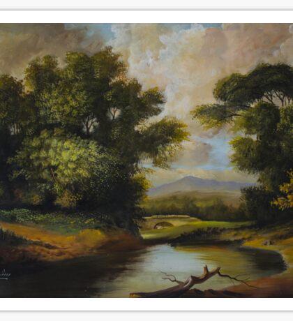 Landscape painting Oil on Canvas Sticker
