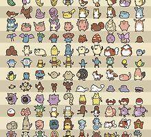 Kawaii  Pokémon Poster by kiiroikat