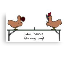 table hennis (aka wing pong) Canvas Print