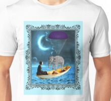 A Woman, a Boat and an Elephant Unisex T-Shirt