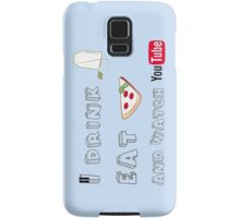 I drink tea, eat pizza and watch Youtubers - 01 Samsung Galaxy Case/Skin