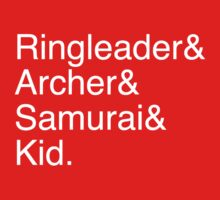 Ringleader, Archer, Samurai, Kid - The Walking Dead by terimseal