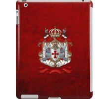 Knights Templar - Coat of Arms over Red Velvet iPad Case/Skin