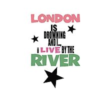 I live by the river Photographic Print