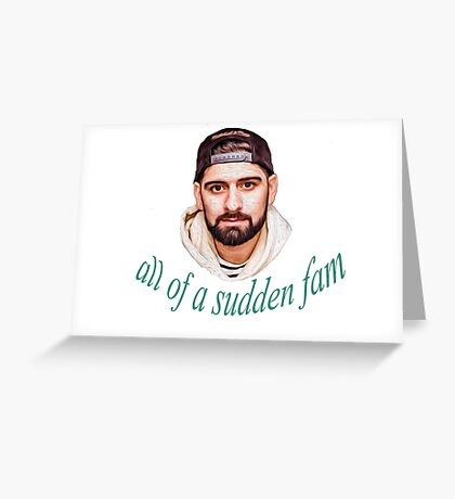 Qias Omar - all of a sudden fam Greeting Card