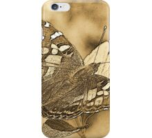 American Painted Lady Sumi-e iPhone Case/Skin