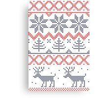 Nordic Christmas Pattern Canvas Print