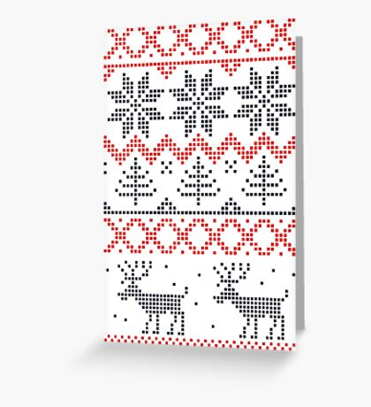 Nordic Christmas Pattern Greeting Card