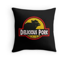 Delicious Pork Throw Pillow