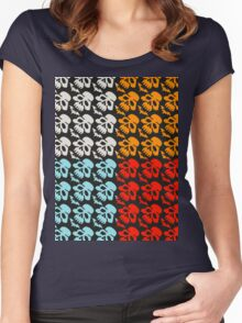 Colorful Skulls Women's Fitted Scoop T-Shirt