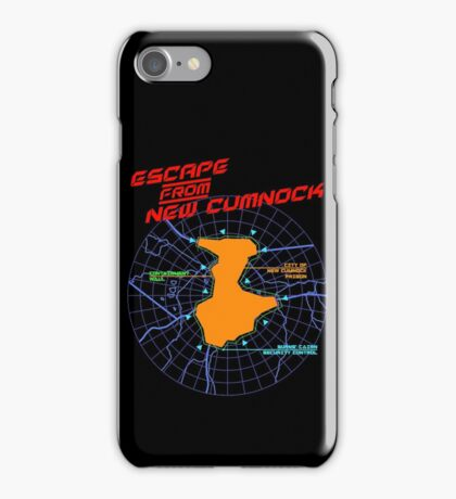 Escape From New Cumnock Title Map iPhone Case/Skin