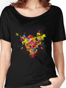 Color Explosion Women's Relaxed Fit T-Shirt