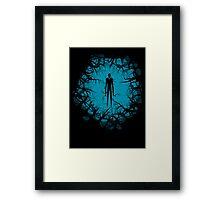SlenderMan! Framed Print